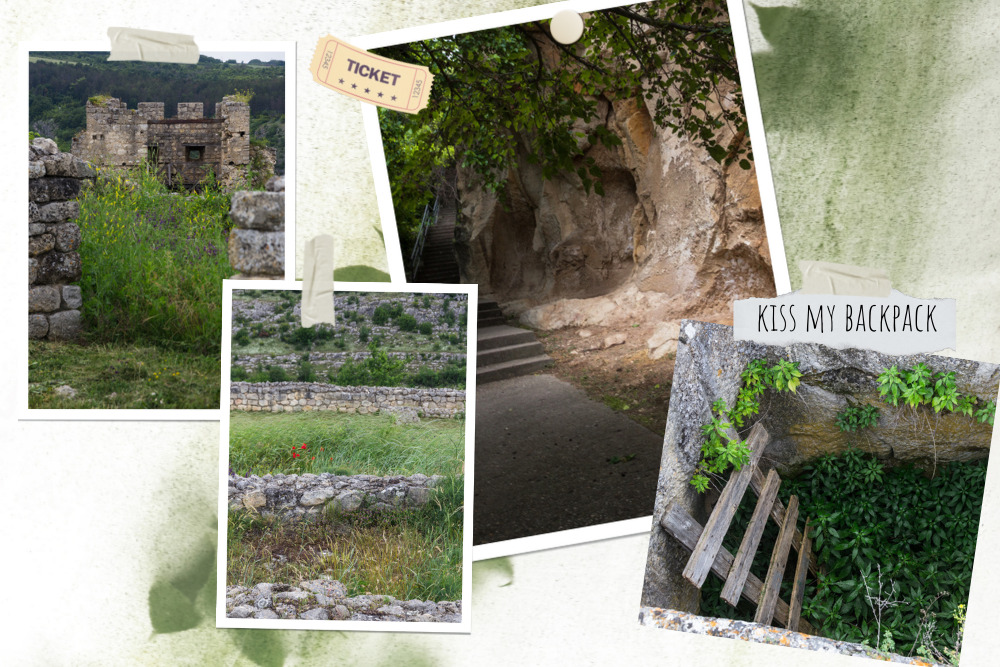 Photo collage of walking through the fortress
