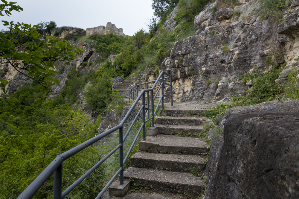 Stairway leading towards the fortress