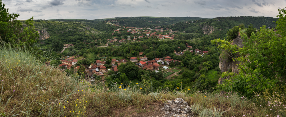 Panorama from the fortress looking towards the village