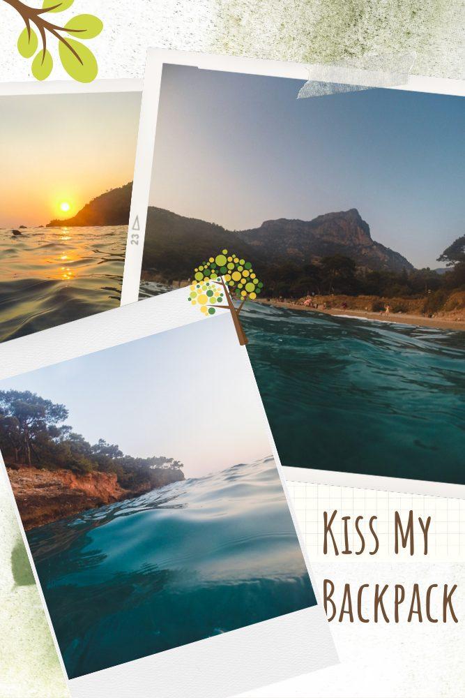 A photo collage of Kabak Koyu beach in Kabak Valley